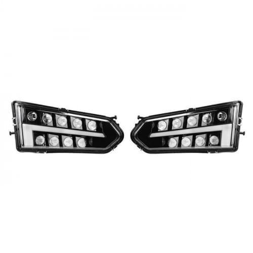Фары светодиодные Kemimoto Premium для Polaris Ranger 570/900/1000 2013-2018 2411787 2411786 B0801-01001CL